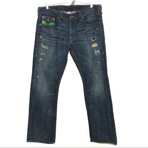 True Religion Men's Ripped Jeans Size 38